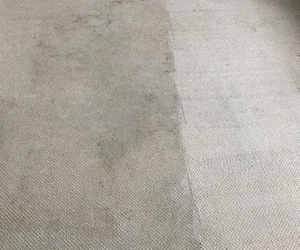 Residential carpet being cleaned